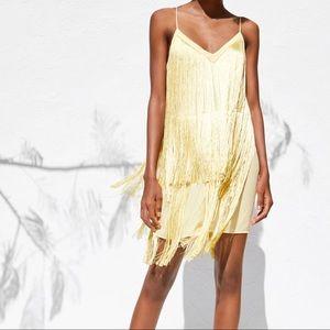 Yellow fringe dress